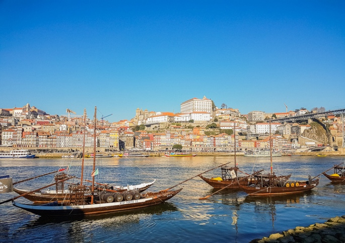 Picture of the Ribeira in Porto