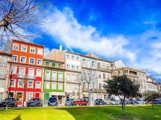 colorful houses in braga